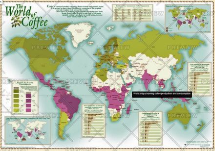 The World of Coffee by Oxford Cartographers